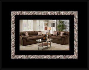 Chocolate fabric sofa and loveseat for Sale in Alexandria, VA