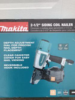 Makita 2-1/2 in. Pneumatic 15° Siding Coil Nailer by Makita for Sale in Marysville,  WA