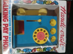 Vintage Handi-Craft Talking Pay Phone 1980's Kids Toy Telephone With Coins for Sale in Lawrenceville, GA