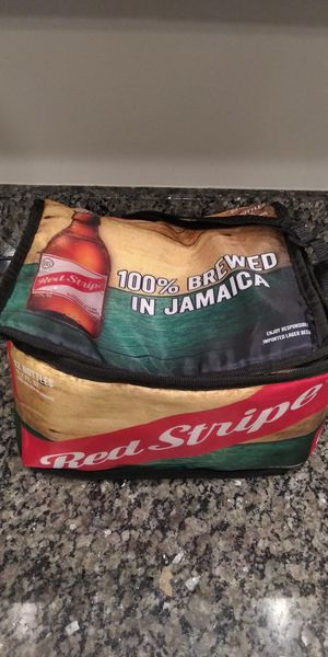Jamaica RED STRIPE Beer Cooler Lunch Bag for Sale in Gaithersburg, MD