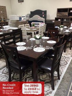 New 6pc Dining Set, Brown, SKU# PDXF2297TC for Sale in Santa Fe Springs,  CA