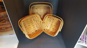 Longaberger Berry Basket Set of Large, Medium, Small for Sale in Shoreline, WA