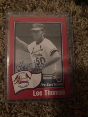 Lee Thomas Autographed Baseball Card for Sale in Wildwood, MO