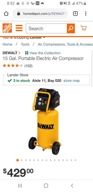 Dewalt air compressor for Sale in University Place, WA