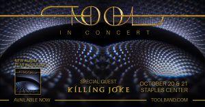 Tool 10/20 Staples Center for Sale in Placentia, CA
