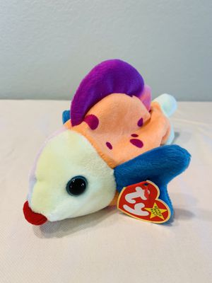 """""""Lips"""" Bright Spotted Fish TY Beanie Baby 1999 Retired for Sale in Austin, TX"""