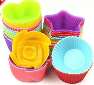 4 Shapes 2.2 oz. 24 PCs units, Non Stick Cupcake or Muffin Baking Silicone Molds for Sale in HALNDLE BCH, FL
