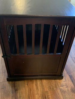 Large Espresso Dog Crate / End Table for Sale in Waddell,  AZ
