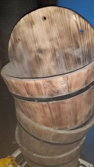 Wood barrel flower pot for Sale in Carson, CA