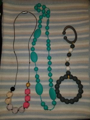 Itzy Ritzy/Nuby Teether Necklace/Stroller Beads for Sale in Houston, TX