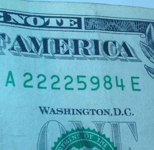 Amazing Four 2's Serial Number $1 Bill- Scarce! for Sale in Washington, DC
