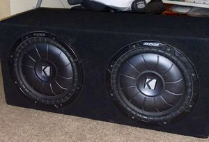 "2 12"" Kicker CVT stitched subs with box. (Non-ported) for Sale in Portland, OR"