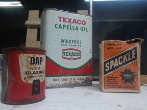 Vintage Dap, Spackle, and Oil can for Sale in Phoenix, AZ