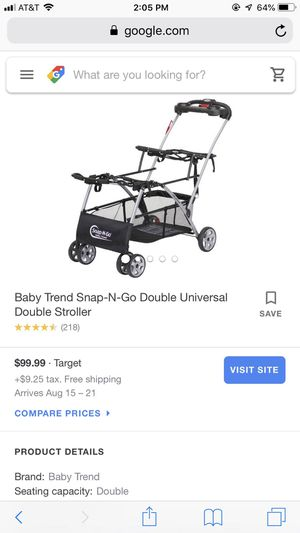 Double car seat stroller for Sale in Watsonville, CA