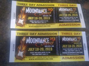 2 Moondance concert tickets (make me a fair offer) for Sale in Whipholt, MN