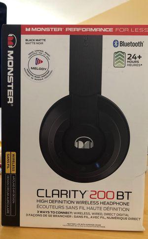Bluetooth headphones monster brand new! for Sale in Pembroke Pines, FL