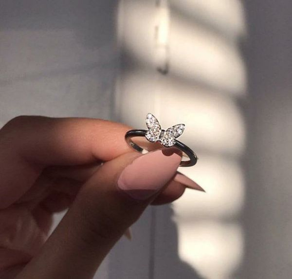 Butterfly ring - Sterling silver ring ''Butterfly'' knuckle ring