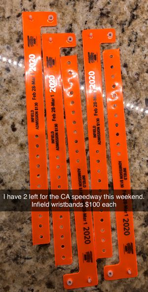 CA speedway infield passes (2 left) for Sale in Fontana, CA