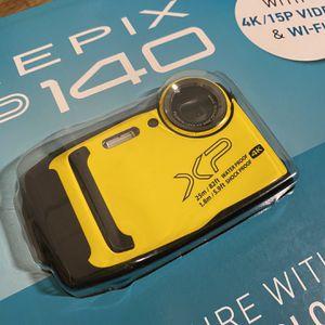 Fujifilm FinePix XP140 Waterproof Digital Camera w/64GB SD Card - Yellow for Sale in Torrance, CA