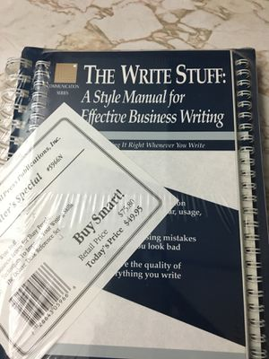 The Write Stuff: Manual for Business Writing for Sale in Los Angeles, CA