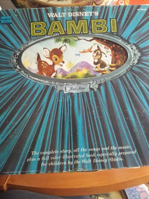 Disney Bambi vinyl record for Sale in Northglenn, CO