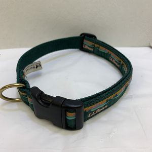 Ll Bean Size Large Dog Collar Buckle Hiking - USA - Green - Mountains RARE for Sale in Pelham, NH