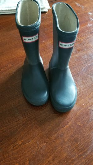 Kids hunter rain boots for Sale in Jamaica, NY