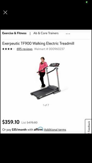 Exerpeutic TF900 Walking Electric Treadmill, $300! for Sale in Kennesaw, GA