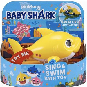 BABY SHARK Sing and Swim BATH TOY Water Activated - Yellow for Sale in Bakersfield, CA