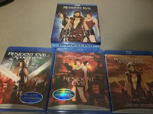 3 blurays called Resident Evil for Sale in Cleveland, OH
