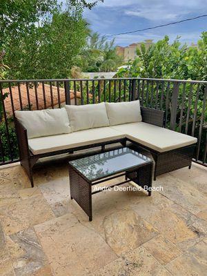 Brown L-Shape Wicker Patio Set - Outdoor Furniture Set for Sale in Boca Raton, FL