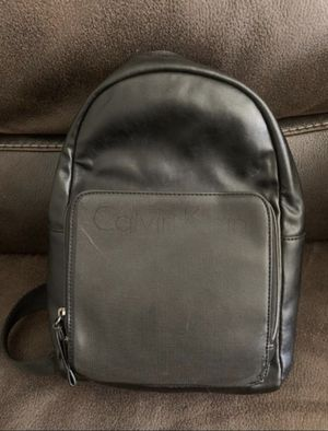 Men's Calvin Klein leather Sling Backpack for Sale in Santa Ana, CA