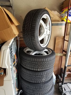 18 inch rims and tires are 98% will trade for some subs and amp for Sale in Spring Hill, FL