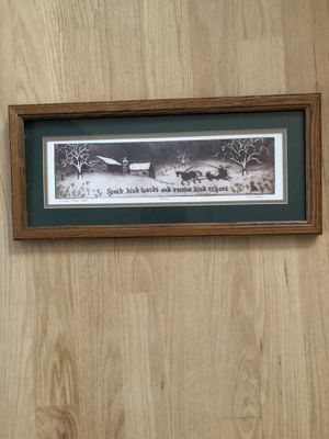 Framed matted original print for Sale in Mount Prospect, IL