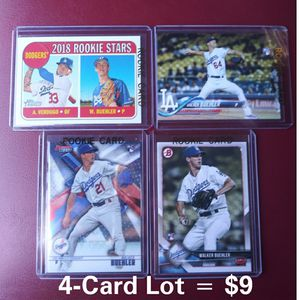 Walker Buehler Rookie Cards - 4 Card Lot - Baseball - Dodgers for Sale in Pico Rivera, CA