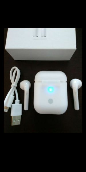 High Quality Brand new mini white wireless Bluetooth headphones earbuds with wireless charger box included. These are not airpods but same size for Sale in Mesa, AZ