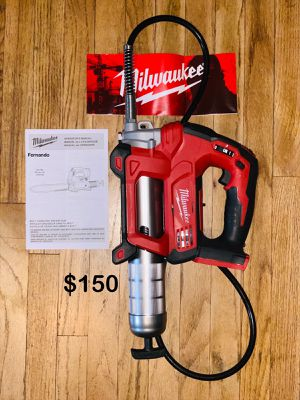 New Milwaukee M18 18-Volt Lithium-Ion Cordless Grease Kit 2-Speed (Tool-Only). Price is FIRM. $150 for Sale in Monterey Park, CA