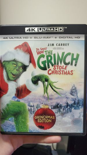 How the Grinch Stole Christmas 4K and Regular Blu-ray Combo for Sale in Highlands, TX