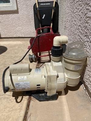 Swimming pool pump with filter/ spa, hot tub (work ) for Sale in Las Vegas, NV