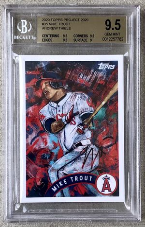 Topps Project 2020 BGS 9.5 Mike Trout by Andrew Thiele for Sale in Mansfield, PA