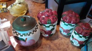 Apple canister set for Sale in Prospect, VA