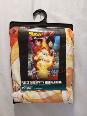 Dragon Ball Z resurrection F fleece throw for Sale in Phoenix, AZ