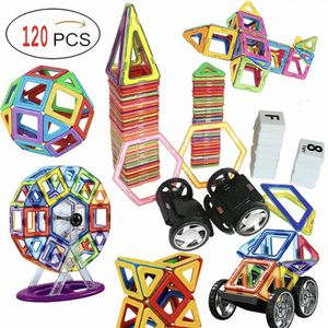 120 Piece Magnetic Tiles magnetic Building Blocks Toys for Kids for Sale in Rancho Cucamonga, CA