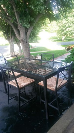 Gorgeous solid metal dining set for Sale in Silver Spring, MD