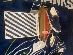 VANS PRO CUSTOM SLIP ON SHOES, NAVY BLUE , CUSTOM INSOLES! SIZE 20 for Sale in Oak Harbor, WA