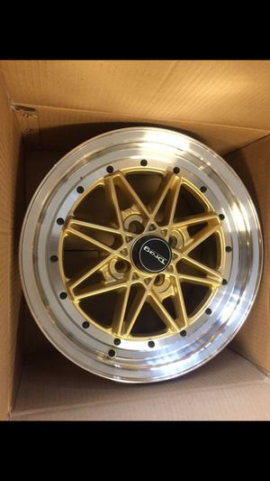 """(4) New 15"""" DR20 Drag Gold Wheels/ rims for sale at cost / Black Friday clearance Special Limited for Sale in Sacramento, CA"""