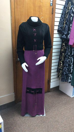 abaya dress made for sale  egypt fine rich material , size xlarge, color black* purple for Sale