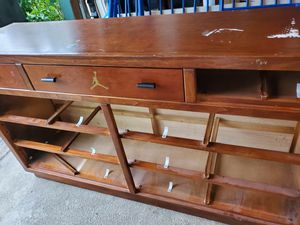 A dresser and mirror and bunk bed full at bottom and twin at top for Sale in Blacklick, OH