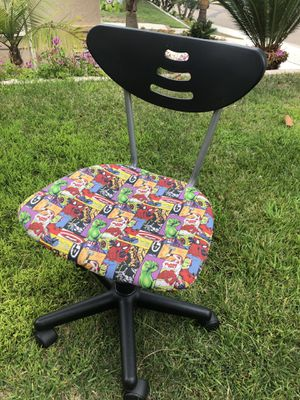Kids desk chair. Super hero fabric for Sale in Carlsbad, CA