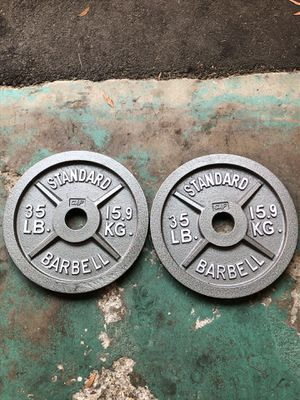 Olympic Weight Plates (2x35lbs) for Sale in Huntington Park, CA